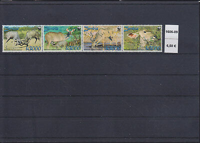 066355 Rotwild Red Deer Zambia 1606-09 ** MNH Year 2008