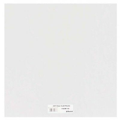 Grafix Clear Craft Plastic .007 Thickness 12-inch By 12-inch, Pack Of 25 -