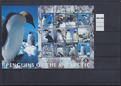 066437 Pinguine Penguins British Antarctic Territory 369-80 ** MNH Year 2003