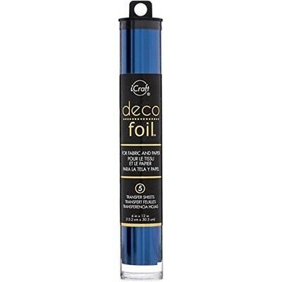 Thermoweb Deco Foil Transfer Sheets 6-inch x 12-inch-deep Blue, Other, - Blue