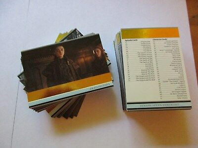 Game of Thrones Season 7 Complete GOLD Foil Parallel Base Set - Series Seven