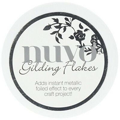 Tonic Studios 850n Radiant Gold Gilding Flakes, 200ml - Nuvo Flakes 68oz Radient