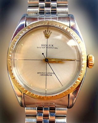 Rolex ♛ Oyster Zephyr 6582 Cal.1030 Steel/Gold 14K Automatic Chronometer 1956