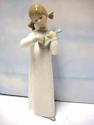 Girl With Guitar Porcelain By Lladro  #g-4871