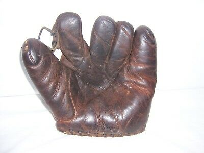 Antique Old Vintage D&M Buckle Back Baseball Glove Hugh Critz Very Rare Nice USA