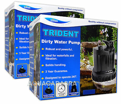 Lotus Trident Dirty Water Pumps Powerful Filter Handles Solids Pond Garden Fish