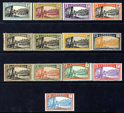 CAMEROUN (FRENCH) 1925 Postage Due Set SG D88 to SG D100 MINT