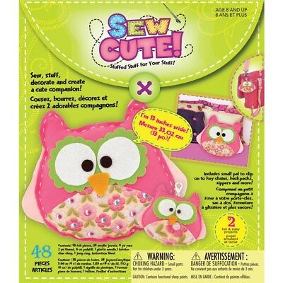 Owl Sew Cute! Felt Kit- - Cute Craft Box Makes 2 Delivery Free