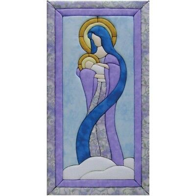 Quilt-magic No Sew Wall Hanging Kit-mary & Baby Jesus - Quilt Magic Mary 10 x