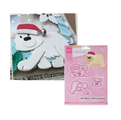 Eline's Polar Bear Metal Die Cut & Stamp Set Marianne Cutting Dies Christmas