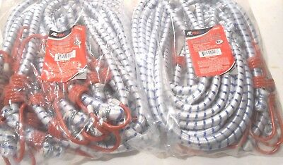 """24 Pc. Set 36"""" Inch (3 Ft.) Heavy Duty Bungee Cord Red Tip Tie Down Strap"""