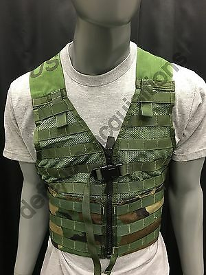 US Military Fighting Load carrier FLC Tactical Vest Woodland Camo MOLLE II BB