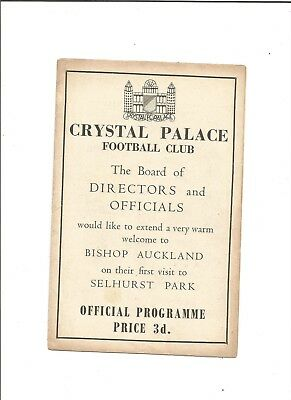 CRYSTAL PALACE v BISHOP AUCKLAND (F.A Cup) 1954/55