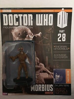 Bbc Series Doctor Who Dr Issue 28 Morbius Monster Eaglemoss Figurine + Magazine