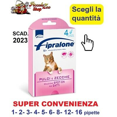 Fipralone spot-on antiparassitario per gatto 1- 2- 3- 4- 5- 6- 8- 12 pipette