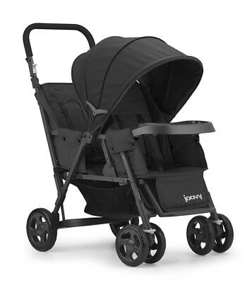 Joovy Caboose Too BLACK Sit Stand Tandem Double Stroller Rear Seat Opened Box
