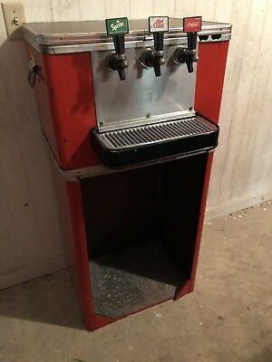 Antique Vintage Coca Cola Coke 3 Tap Soda Cooler Fountain Dispenser
