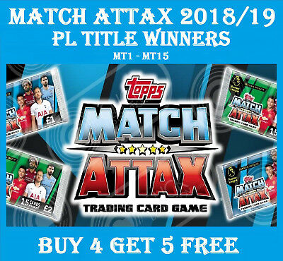 MT1-MT15 TOPPS Match Attax 2018/19 18/19 PL TITLE WINNERS 2019