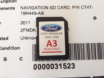 Navigation Sd Card Fits  Ford Edge