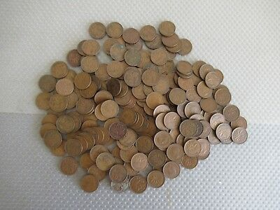 Large Unsorted Group Of 1940's Canadian Pennies ++ Must See This One