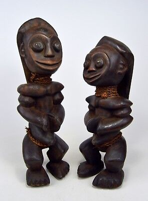 Vintage Pair of Fang Male & Female sculptures, Ex Harold Smith Collection