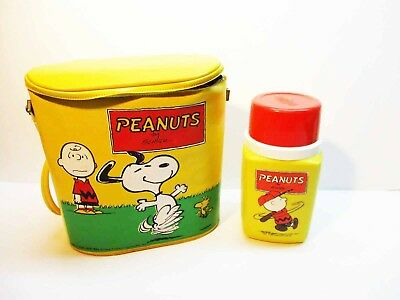 Peanuts Vinyl Yellow Lunch Pail with Thermos