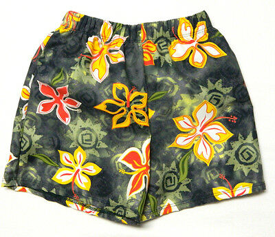 Weebop Little Boy's SIZE 2-4 Green Floral Swimsuit Trunks with Liner NWT