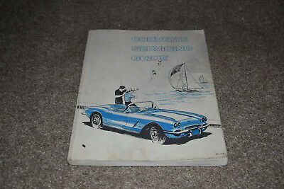 Corvette Servicing Guide covering maint & repair info for 1953-62 Corvette