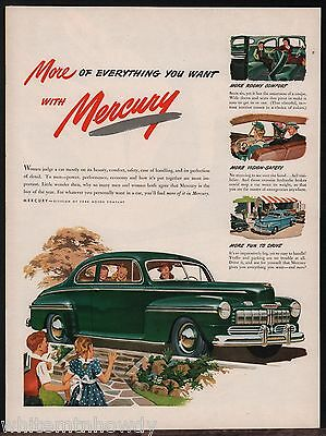 1946 MERCURY Green Coupe Antique Vintage Car AD