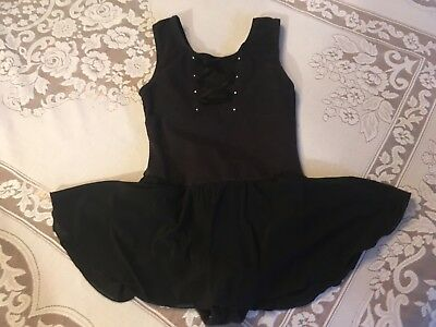 Girl's Size L Black Dancekin Dance Leotard
