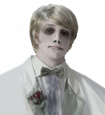 Ghostly Gentleman Grey/White Costume Wig Adult One Size Fits Most