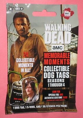 WALKING DEAD MEMORABLE MOMENTS * GUARANTEED COSTUME RELIC DOG TAG Tags HOT PACK