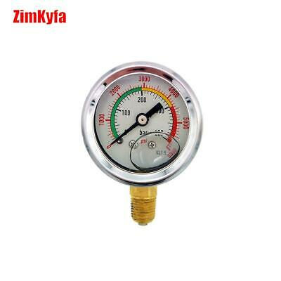 Paintball PCP Gauge Manometer For Refill Station Adapter 400bar / 6000psi 1/8NPT