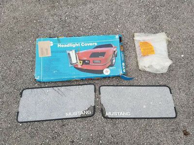 1983-1986 Mustang Clear Headlight Covers New 1984 1985 GT LX Saleen