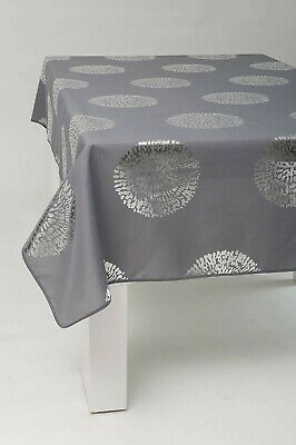 Nappe Bulle argente rectangulaire - Anti Taches, Infroissable - 100% Polyester (