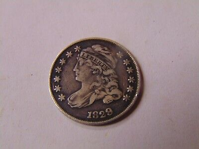 1829 Capped Bust Half Dime H10C 5 Cents - Nice Old Coin NICE CLEAR LINES OLD