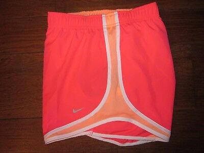 Nike Dri-Fit Women's Running/Workout Shorts, Pink/Peach/White, Large - BNWT