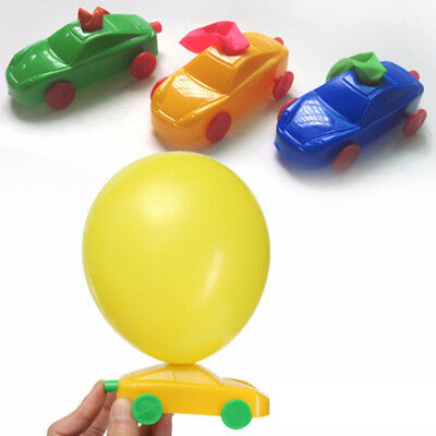 Multi Color Balloon Powered Racer Cars Toy Fun Classic Toys Decoration Kids Gift