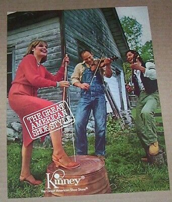 1980 vintage ad - Kinney ladies shoes country music band PRINT Advertising page