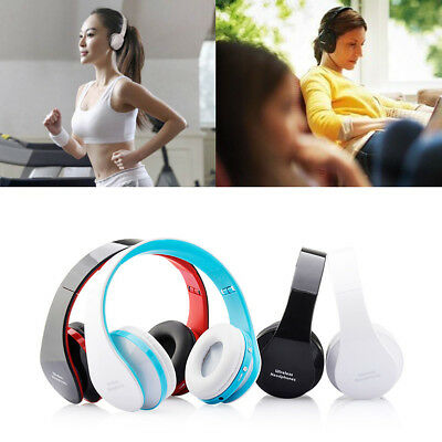 Foldable Bluetooth Wireless Stereo Mic Headset Headphones For iPhone Samsung PC