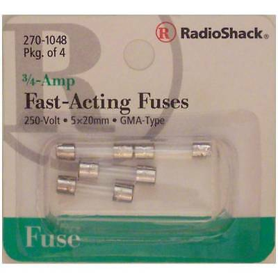 Fast-Acting 3/4-Amp 250 Volt GMA-Type Glass Fuses 5x20mm 3/4A 250V 4/PK