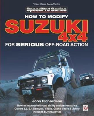 How To Modify Suzuki 4x4 Manual Samurai Vitara Jimmy Santana SJ410 New Book