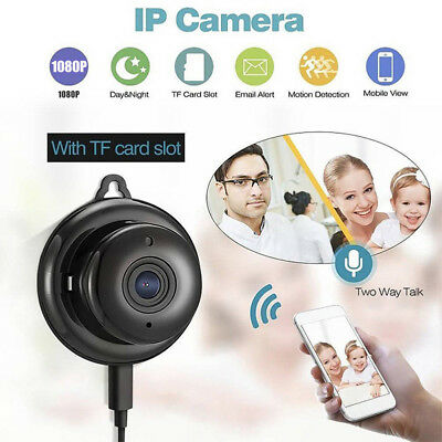 1080P Wireless WiFi Smart Mini IP Camera Night Vision Home CCTV Security Monitor