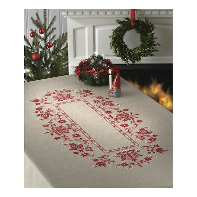 ANCHOR | Embroidery Kit: Christmas Large Linen Tablecloth | 92400007534