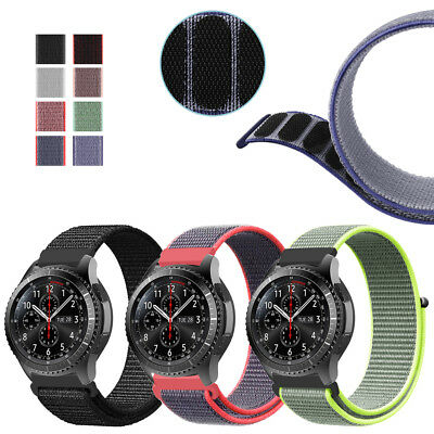 For Samsung Galaxy Watch 46mm / Gear S3 Frontier Classic Nylon Sport Strap Bands