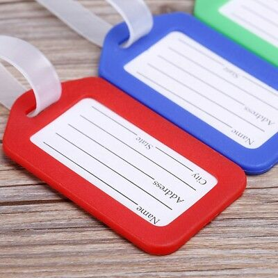 Suitcase / Luggage ID Tags Labels NAME ADDRESS ID Bag TRAVEL HOT