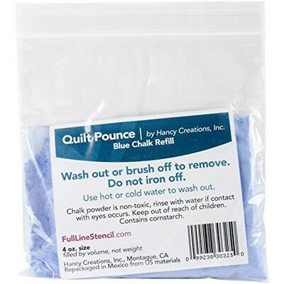 Hancy Various Quilt Pounce Chalk Refill-4oz Blue - Refilloz