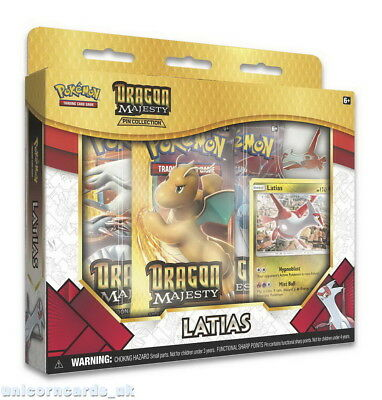 Pokemon TCG: Dragon Majesty Pin Collection - Latias :: Brand New And Sealed!