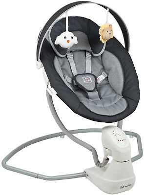 Babygo Schaukelwippe Cuddly anthrazit incl. Netzteil Babywippe