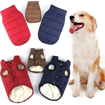 Puppy Pet Dog Clothes Hoodie Winter Warm Thicken Sweater Coat Jacket Costume lot
